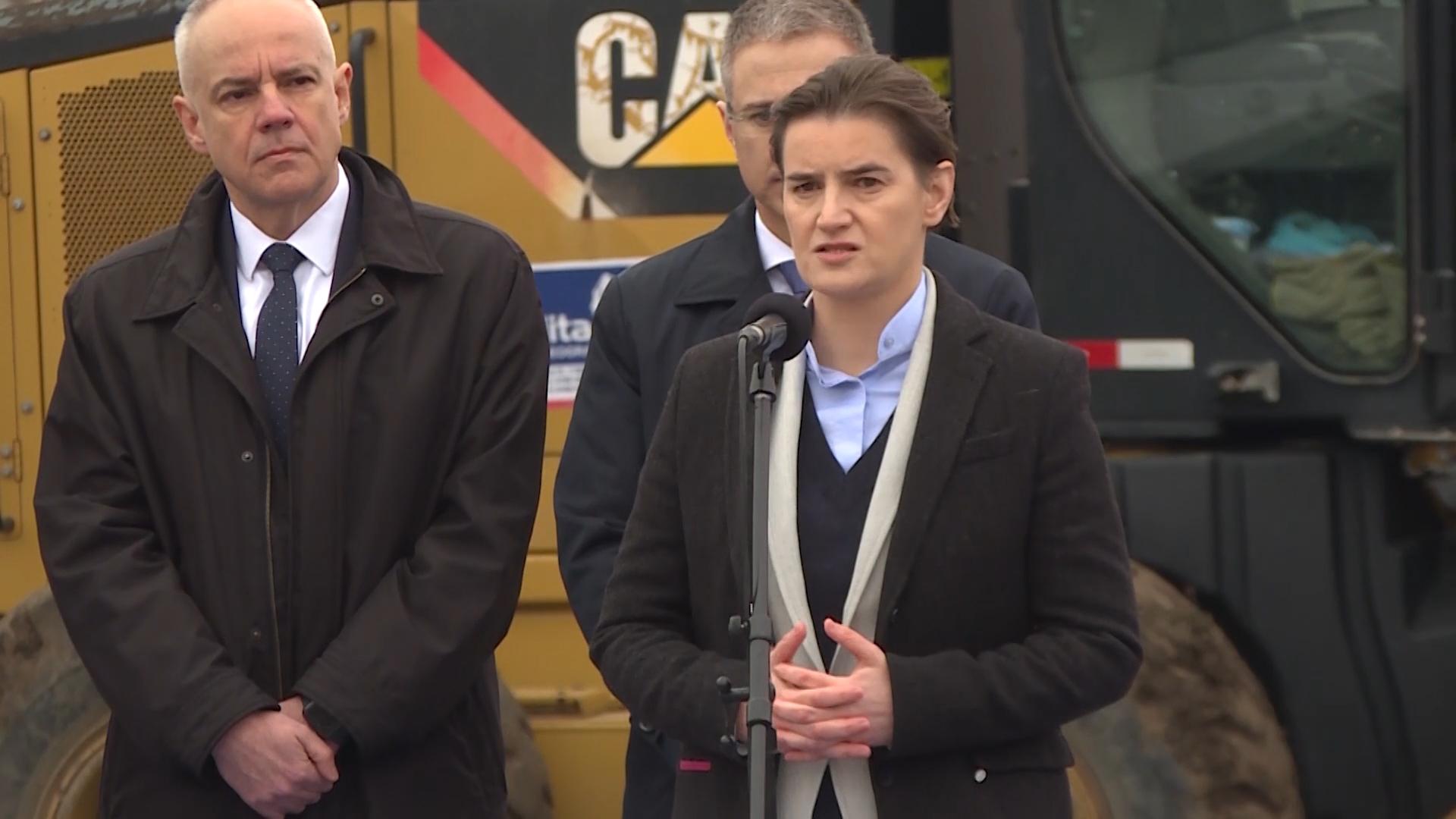 Predsednica Vlade Ana Brnabic Polozila Kamen Temeljac Za Prvih Dve